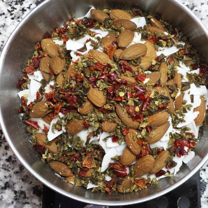 Almond Jalfrezi curry. Credit TentMeals